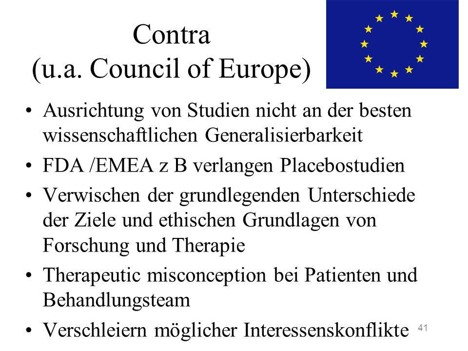 Contra (u.a. Council of Europe)