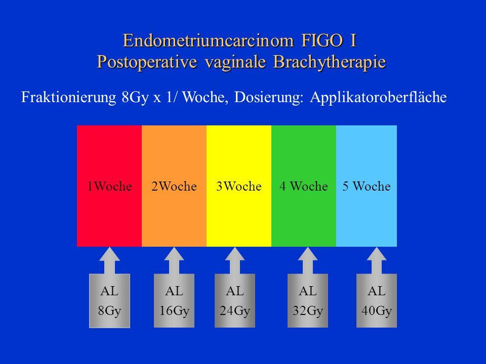 Endometriumcarcinom FIGO I Postoperative vaginale Brachytherapie