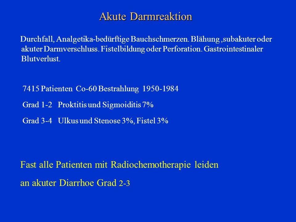 Akute Darmreaktion Fast alle Patienten mit Radiochemotherapie leiden