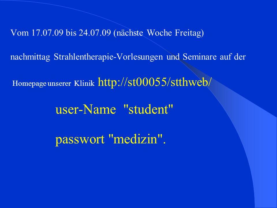 user-Name student passwort medizin .