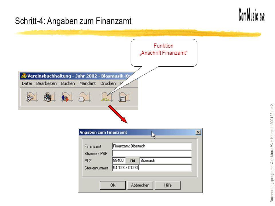 Schritt-4: Angaben zum Finanzamt