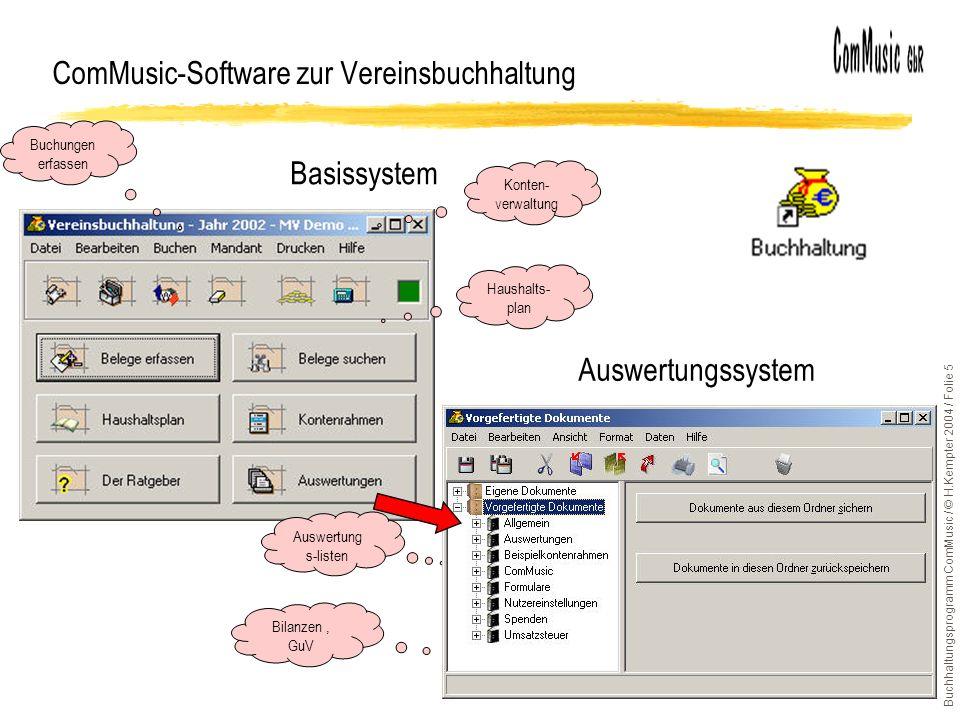 ComMusic-Software zur Vereinsbuchhaltung
