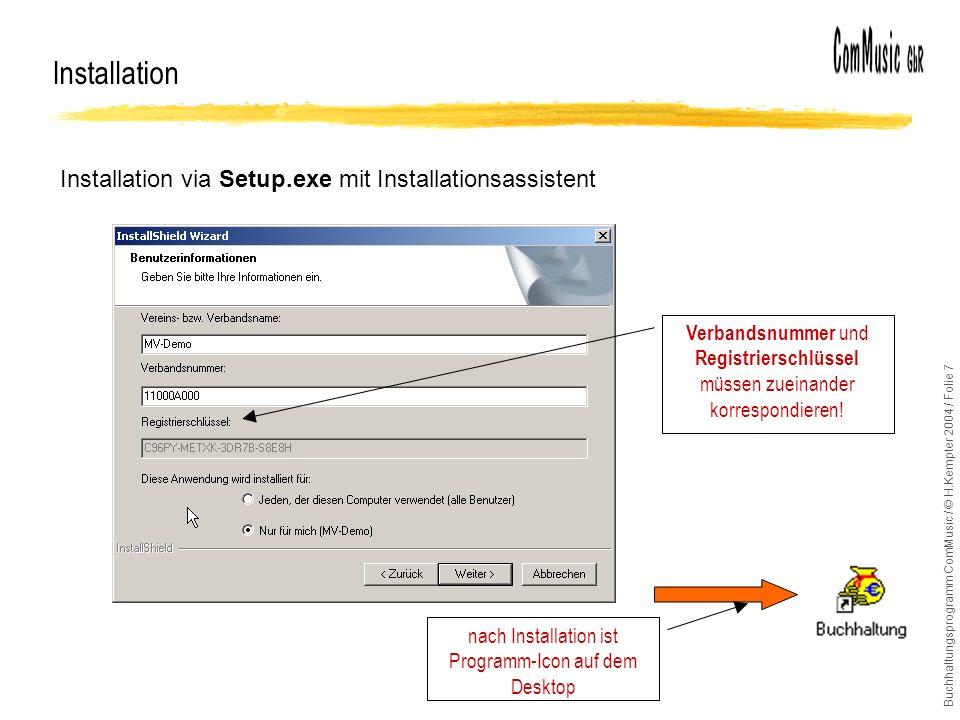 nach Installation ist Programm-Icon auf dem Desktop