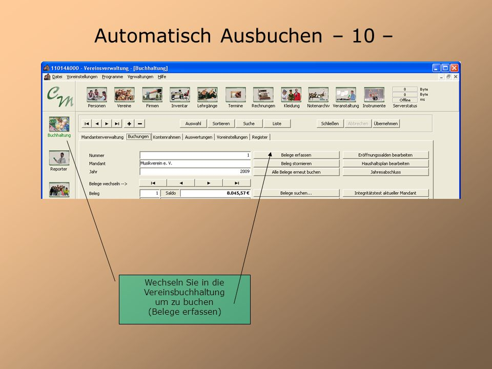 Automatisch Ausbuchen – 10 –