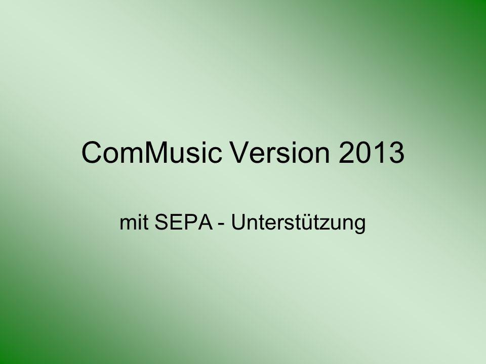 mit SEPA - Unterstützung