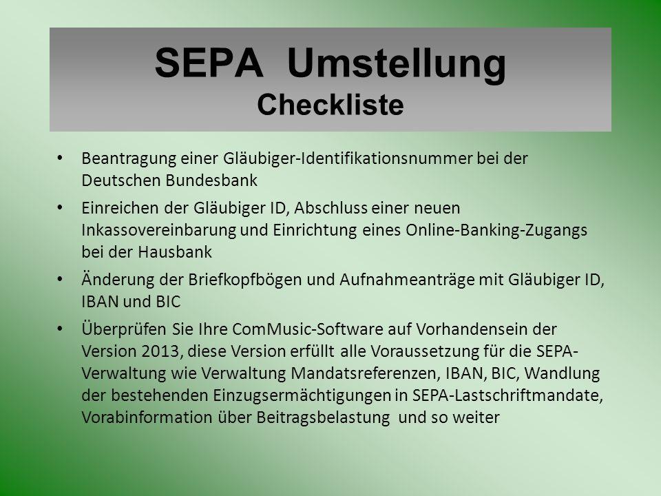 SEPA Umstellung Checkliste