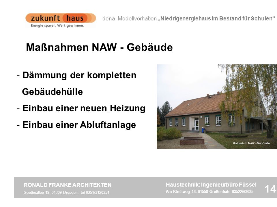 Maßnahmen NAW - Gebäude