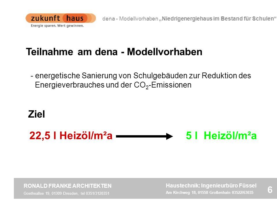 22,5 l Heizöl/m²a 5 l Heizöl/m²a