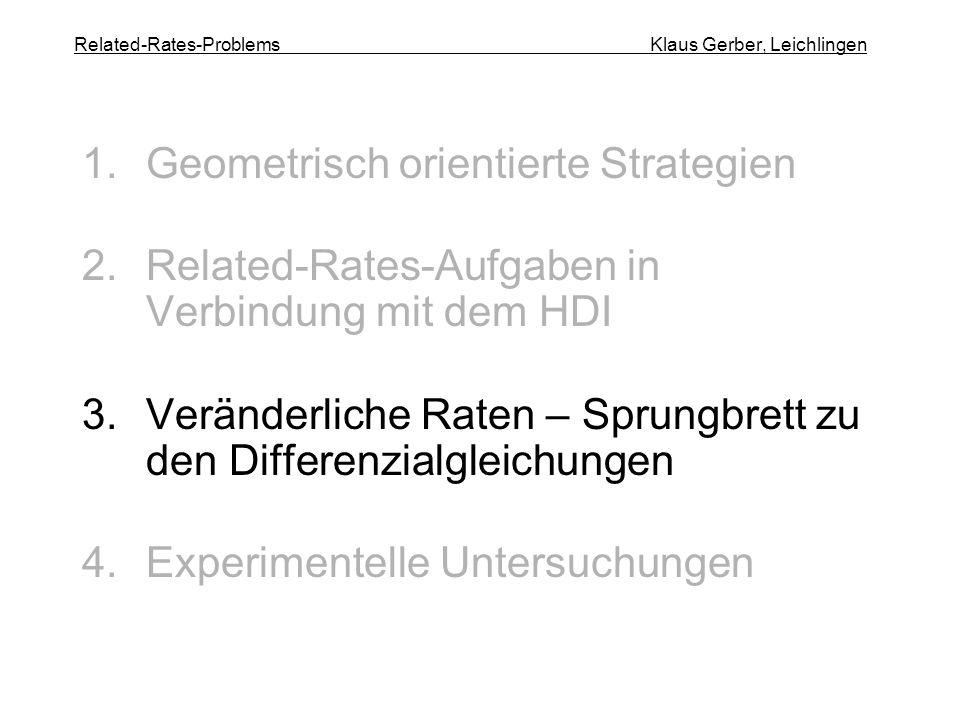 Related-Rates-Problems Klaus Gerber, Leichlingen
