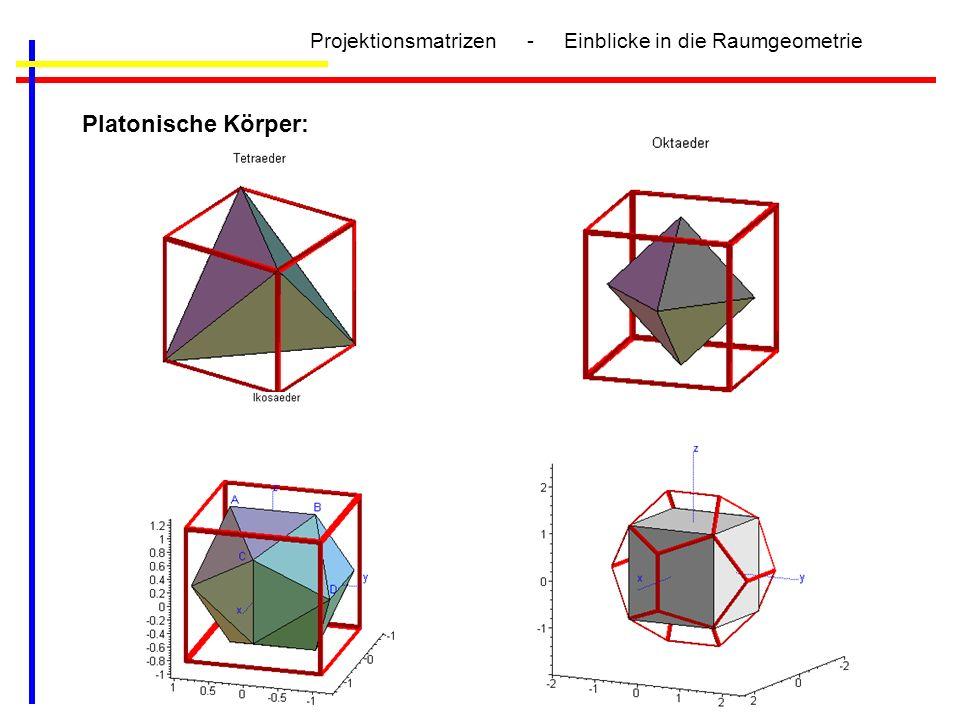 Projektionsmatrizen - Einblicke in die Raumgeometrie