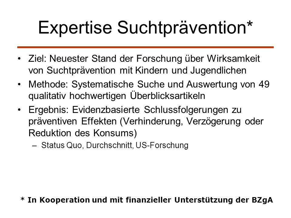 Expertise Suchtprävention*