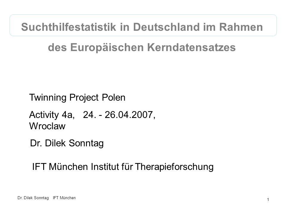 Suchthilfestatistik in Deutschland im Rahmen