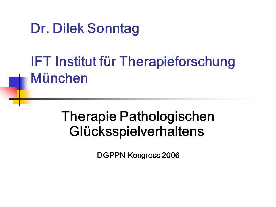 Dr. Dilek Sonntag IFT Institut für Therapieforschung München