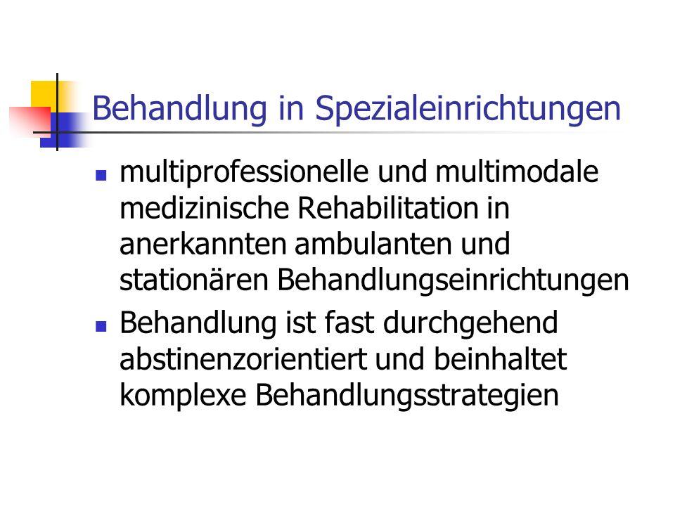 Behandlung in Spezialeinrichtungen