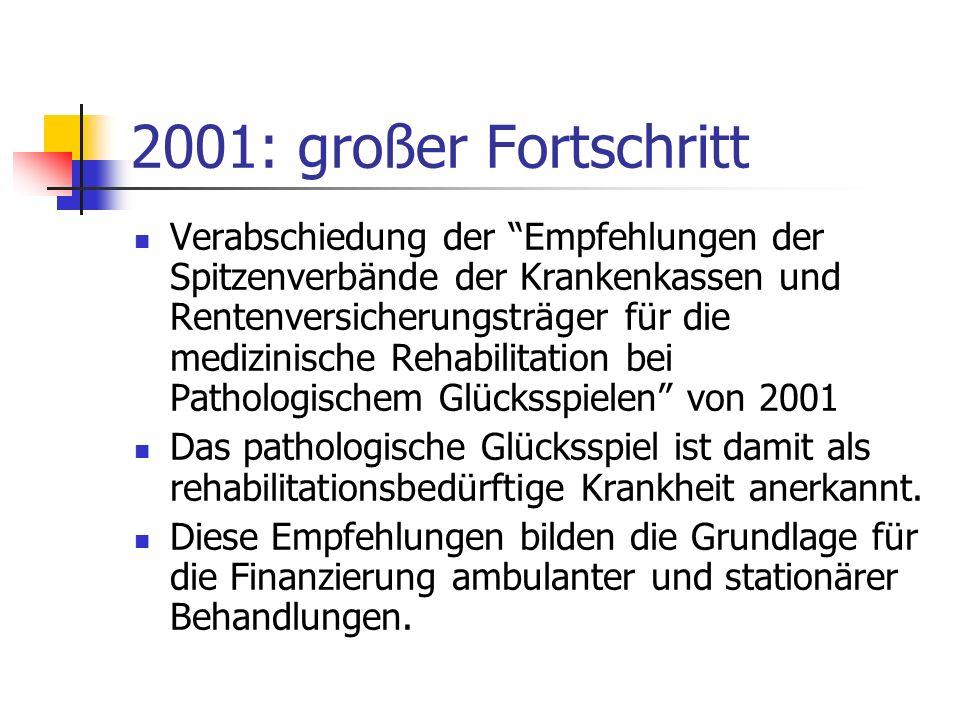 2001: großer Fortschritt