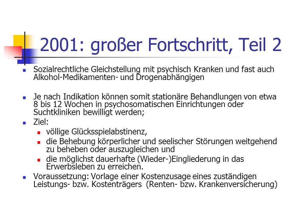 2001: großer Fortschritt, Teil 2