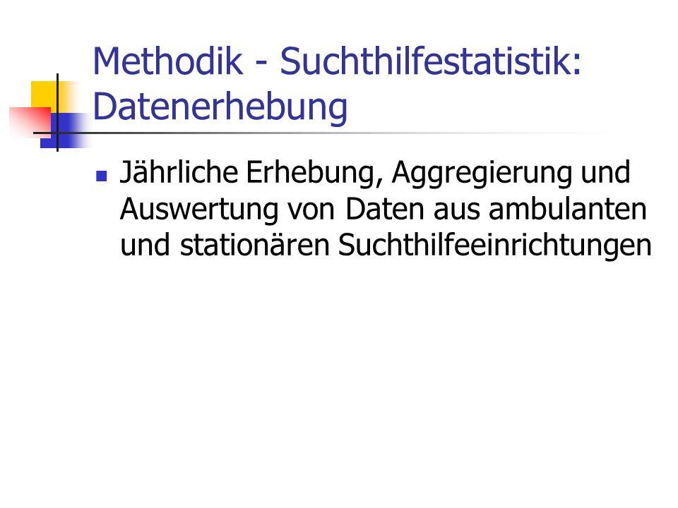 Methodik - Suchthilfestatistik: Datenerhebung