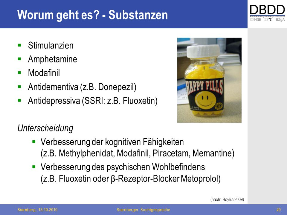 Worum geht es - Substanzen