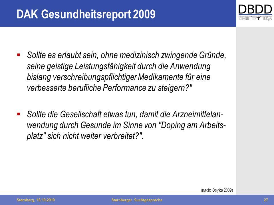 DAK Gesundheitsreport 2009