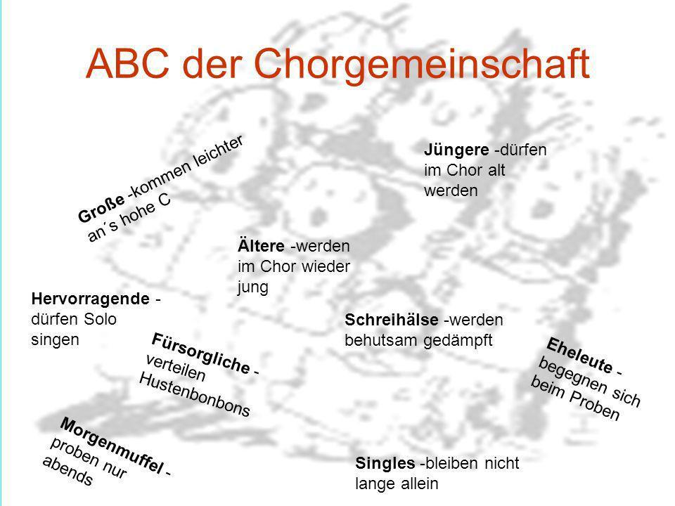 ABC der Chorgemeinschaft