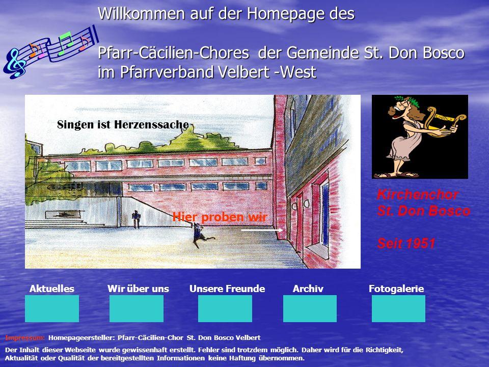 Willkommen auf der Homepage des Pfarr-Cäcilien-Chores der Gemeinde St