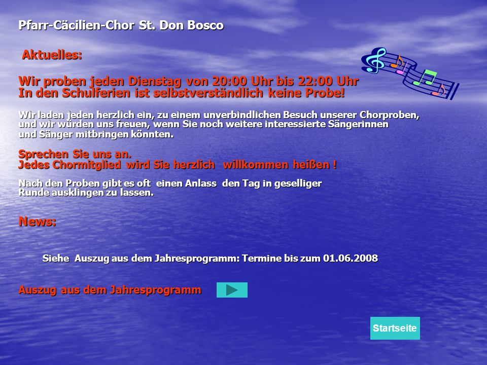 Pfarr-Cäcilien-Chor St. Don Bosco Aktuelles: