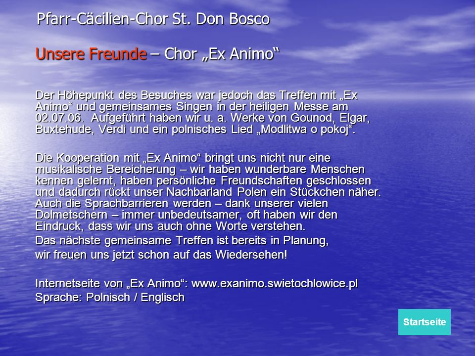 "Unsere Freunde – Chor ""Ex Animo"