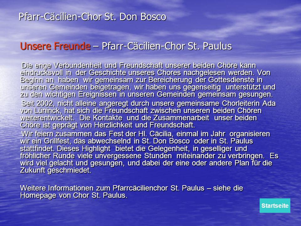 Unsere Freunde – Pfarr-Cäcilien-Chor St. Paulus