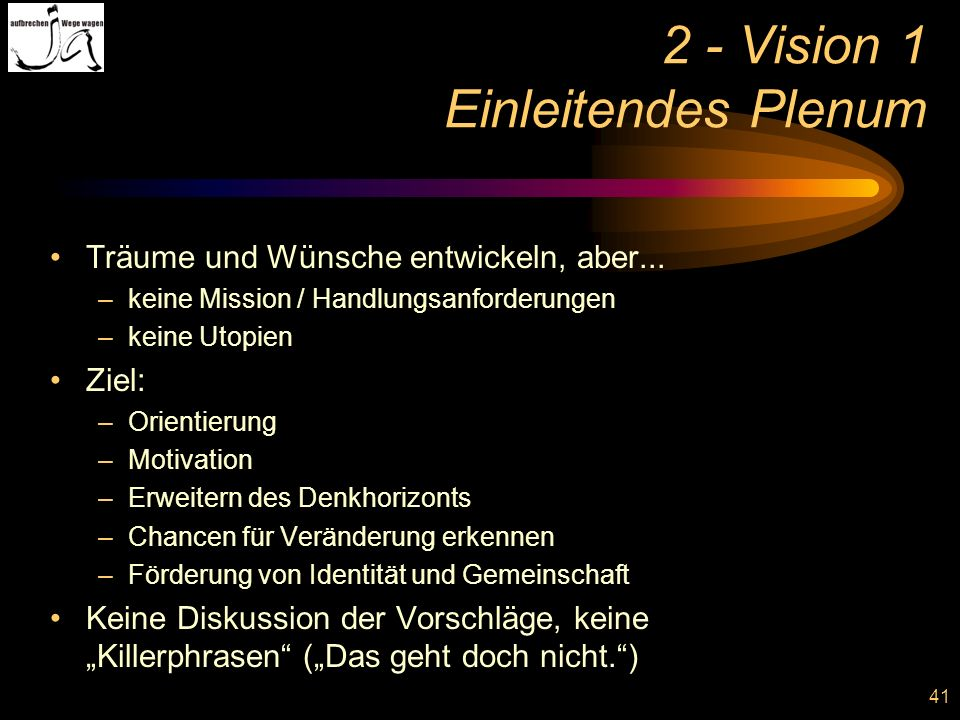 2 - Vision 1 Einleitendes Plenum
