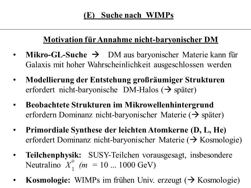 Motivation für Annahme nicht-baryonischer DM