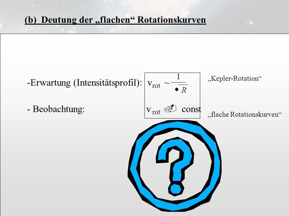 "3.6.8 (b) Deutung der ""flachen Rotationskurven"