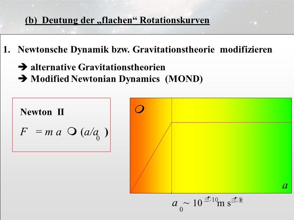 "3.6.8 (b) Deutung der ""flachen Rotationskurven. Newtonsche Dynamik bzw. Gravitationstheorie modifizieren."