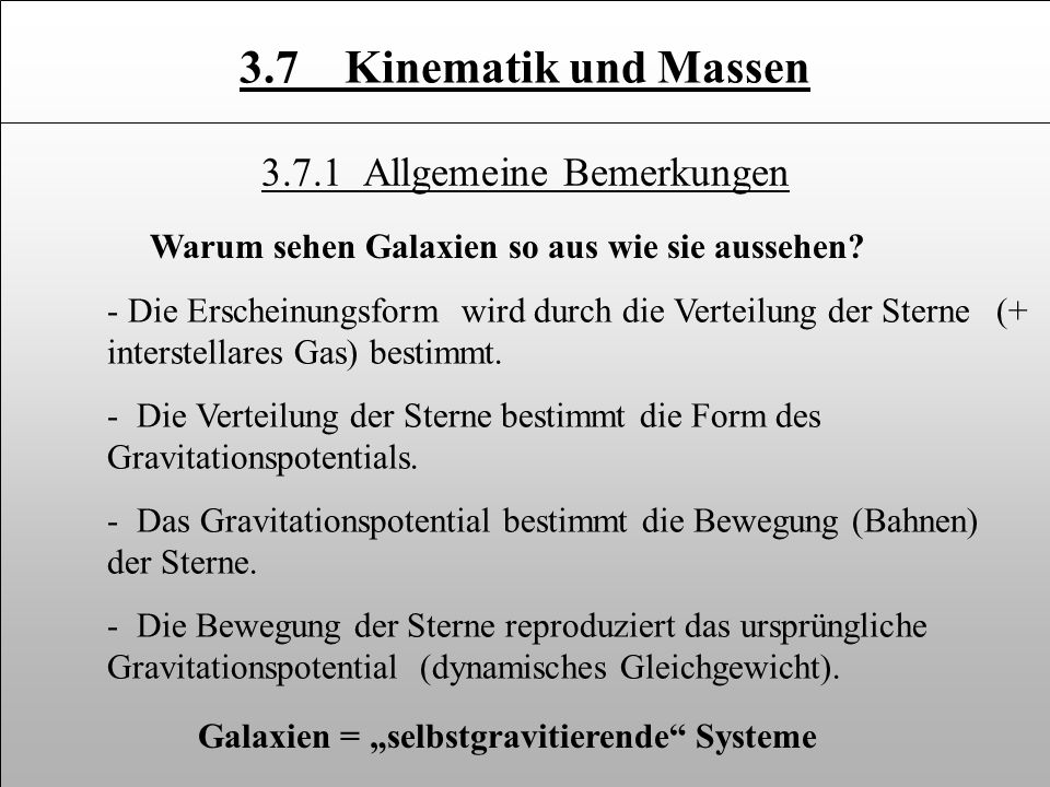 3.7.1 Allgemeine Bemerkungen