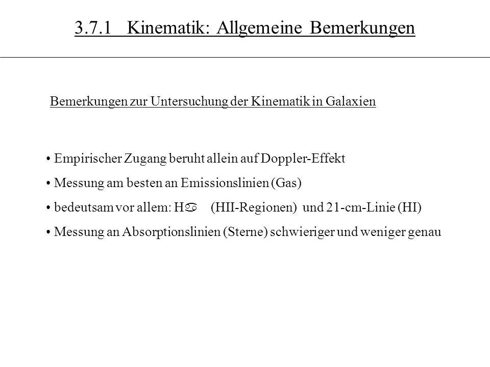 3.7.1 Kinematik: Allgemeine Bemerkungen