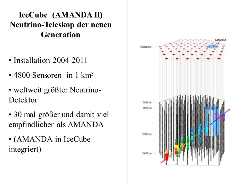 IceCube (AMANDA II) Neutrino-Teleskop der neuen Generation