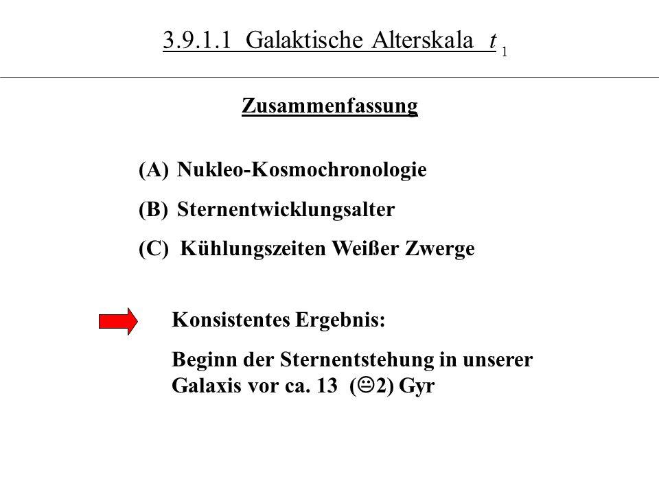 3.9.1.1 Galaktische Alterskala t