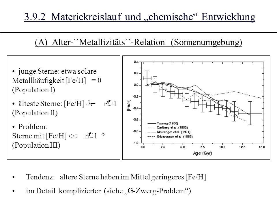 """3.9.2 Materiekreislauf und """"chemische Entwicklung"""