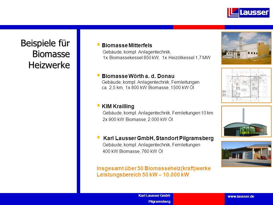 Beispiele für Biomasse Heizwerke Biomasse Mitterfels