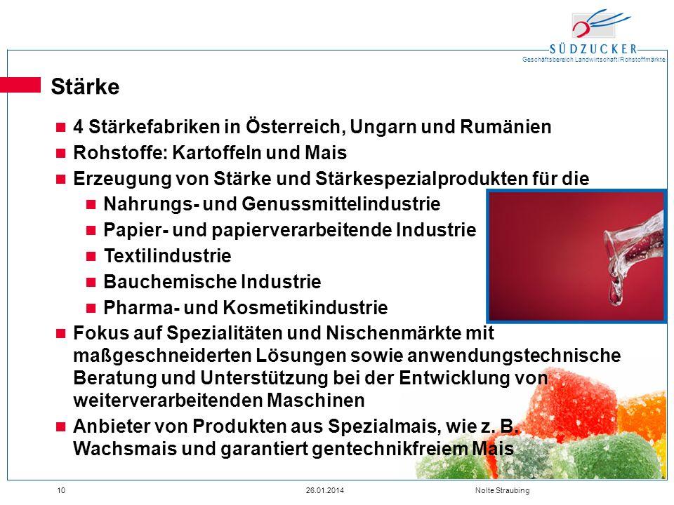 Stärke 4 Stärkefabriken in Österreich, Ungarn und Rumänien