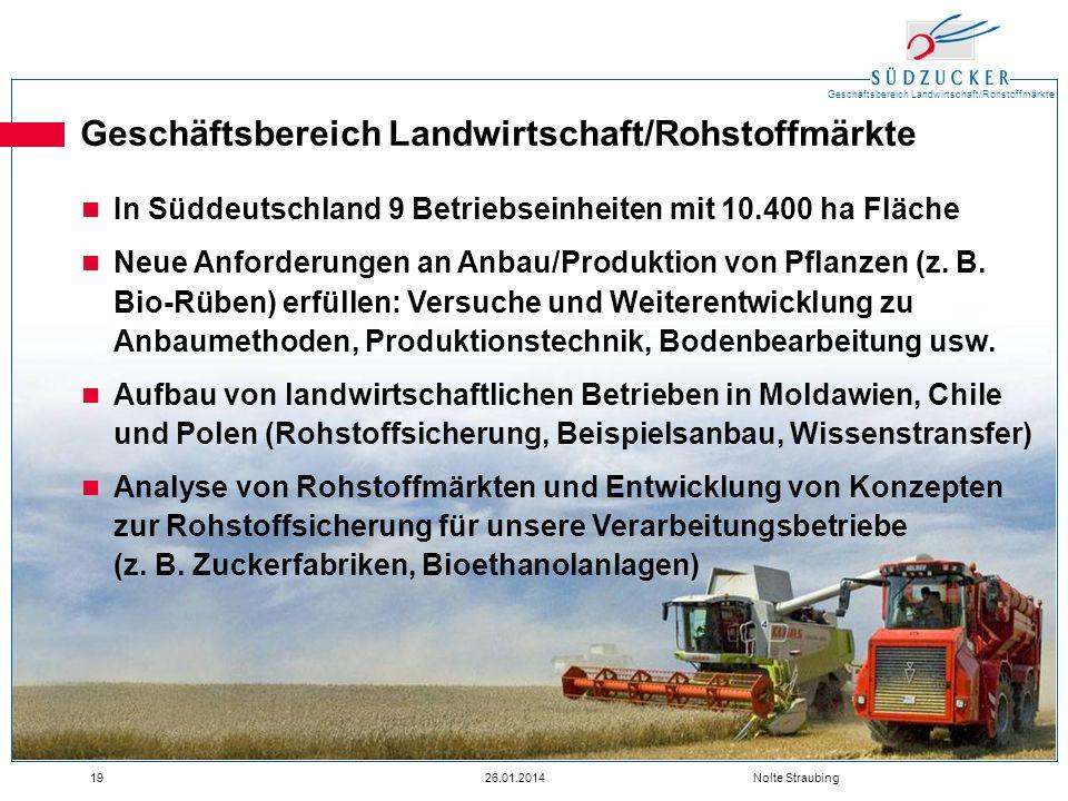 Geschäftsbereich Landwirtschaft/Rohstoffmärkte