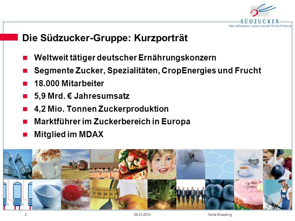 Die Südzucker-Gruppe: Kurzporträt