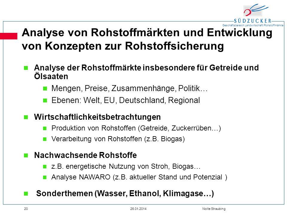 Analyse von Rohstoffmärkten und Entwicklung von Konzepten zur Rohstoffsicherung