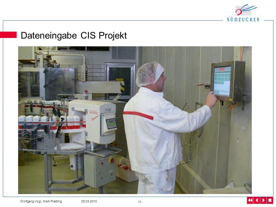Dateneingabe CIS Projekt