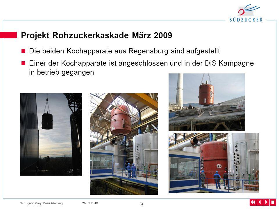 Projekt Rohzuckerkaskade März 2009