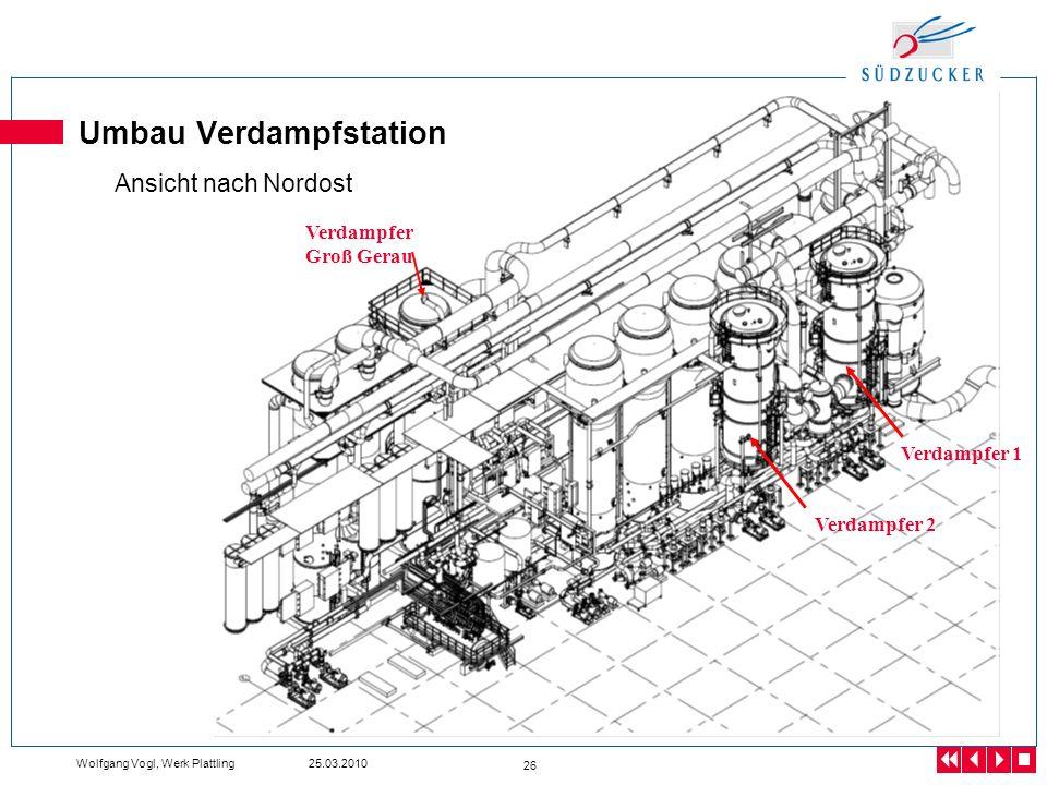 Umbau Verdampfstation