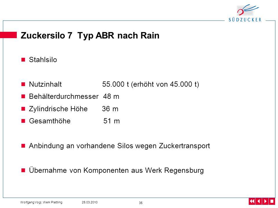 Zuckersilo 7 Typ ABR nach Rain