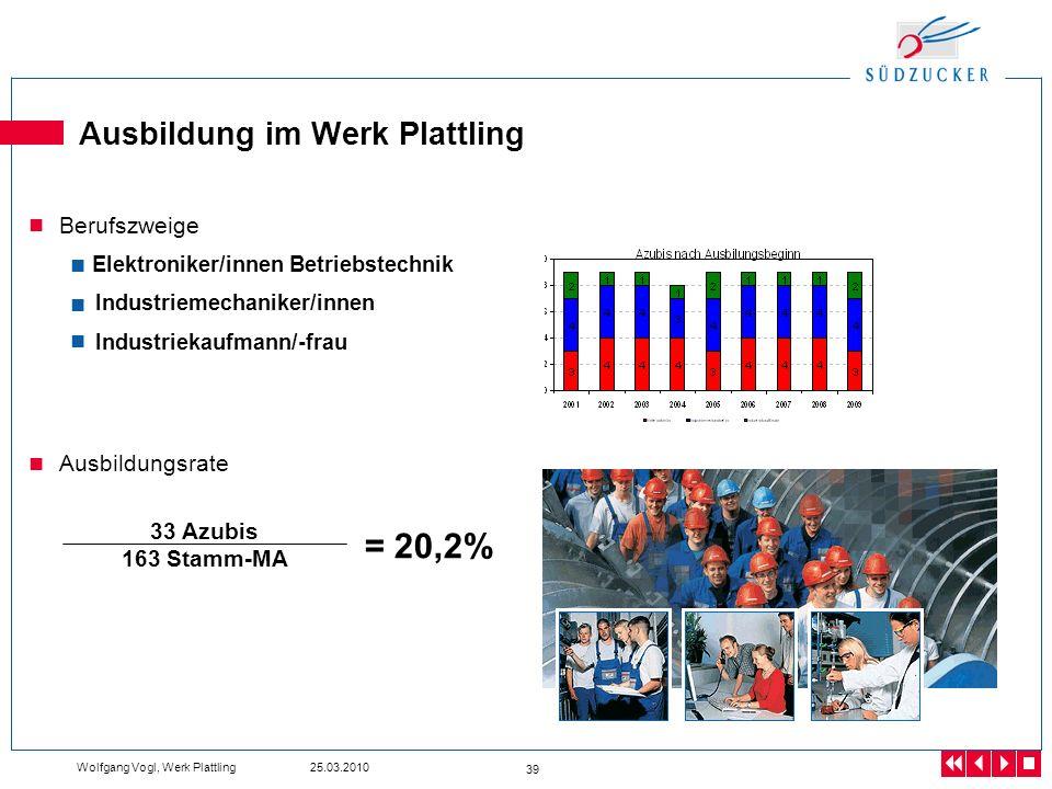 Ausbildung im Werk Plattling