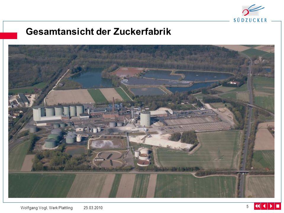 Gesamtansicht der Zuckerfabrik