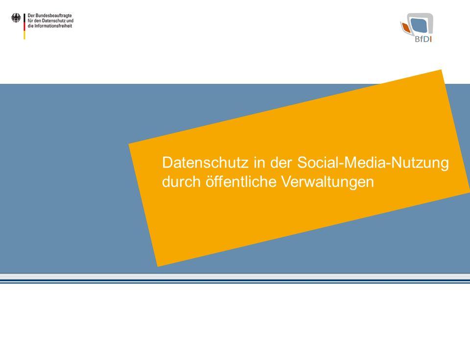 Datenschutz in der Social-Media-Nutzung durch öffentliche Verwaltungen