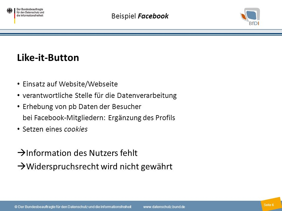 Like-it-Button Information des Nutzers fehlt